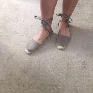NWOT Ankle Wrap Espadrille Flat